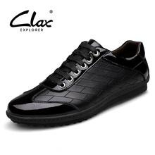 Buy CLAX Men's Casual Shoes Genuine Leather 2017 Autumn Shoe Fashion Footwear Male Designer Black Walking Shoe Leisure Footwear for $43.80 in AliExpress store