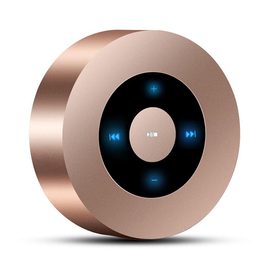 Aimitek Portable Bluetooth Speaker Touch Screen Mini Wireless Stereo Speaker Champagne-1