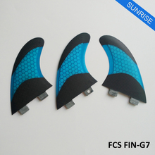 Quilhas FCS G7 Fins FCS Surfboard Fin Fiberglass white yellow green blue orange Honeycomb Fins Good Quaility thruster