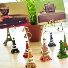 Fashion lovely eiffel tower wind notes folder message clip bookmark clip