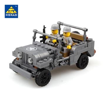 2017 Siècle Militaire US Willys MB Jeep Airborne Puissance Module WW2 Classique Militaire Véhicule avec Lego Compatible Kazi KY82007