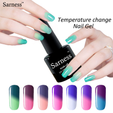 Sarness Professional Glue 8ml Temperature Color Change Nail Gel Polish LED UV Soak Off Long Lasting Uv Gel Varnish Nail Art