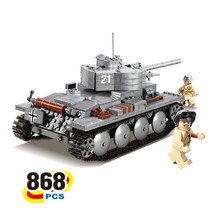 New bricks German PzKpfwII Light Tank 868pcs Building Sets Education For Children Toys lepin(China)