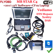 High Quality MB star C4 sd Connect Star Diagnosis-Tool with 12/2017V Software Vediamo& DTS and CF-19 4GB Toughbook Ready to work(China)