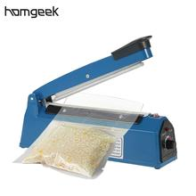 Homgeek 220V 50Hz Manual Plastic Film Sealer Heat Impulse Sealer Poly Bag Plastic Film Sealing Machine for Home Kitchen(China)