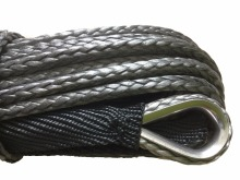4mm x 30m Black Synthetic Winch Line UHMWPE Fiber Rope Towing Cable Car Accessories For 4X4/ATV/UTV/4WD/OFF-ROAD