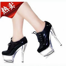 Hate day 15 cm high heel nightclub ultra high heels leather manufacturers selling 1 new big yards bottom single crystal shoes