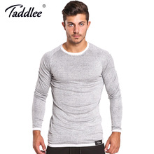 Buy Taddlee Brand Men Long Sleeve T Shirts Solid Color Casual O Neck Sweatshirt Slim Fit Top Tees Basic Active Soft Stretch Apparel for $16.89 in AliExpress store