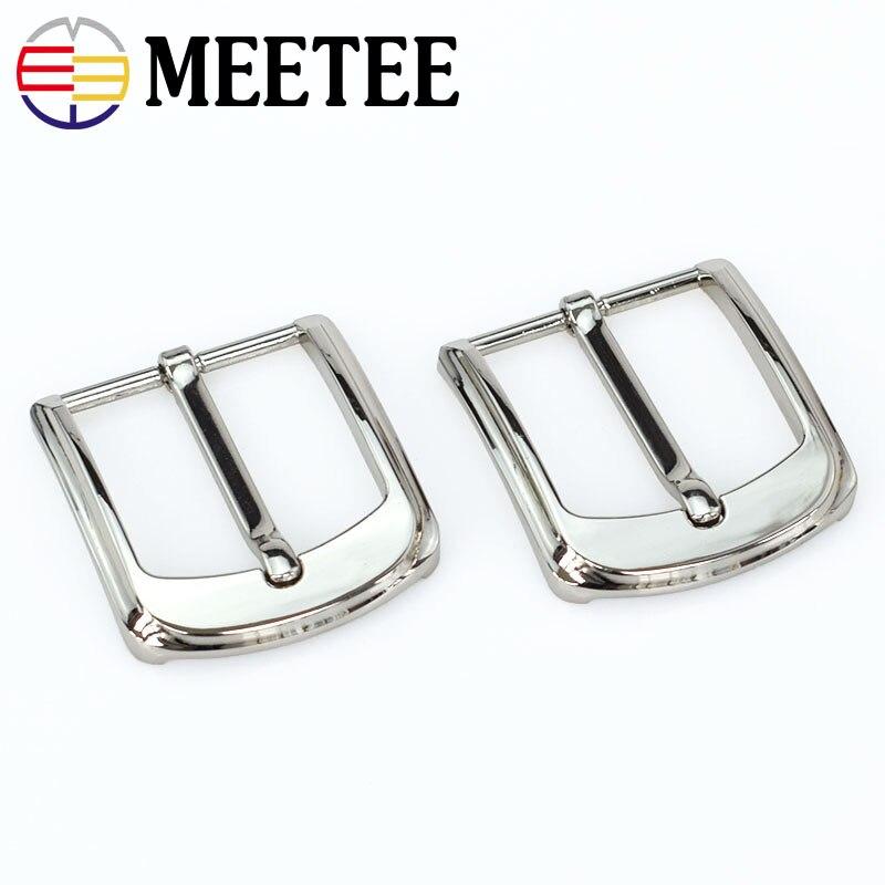 Solar Meetee 35cm Width High Quality Men Belt Buckles Rotating Alloy Pin Buckle Suitable 33-34mm Belt Diy Mens Jeans Accessories