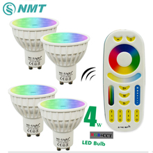 Mi Light Dimmable Led Bulb 4W MR16 GU10 RGB CCT(2700-6500K) led Lamps Indoor Decoration + 2.4G RF LED Remote Control