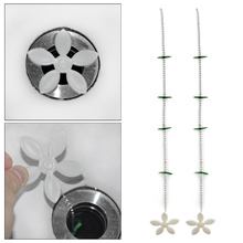 10Pcs/Lot Flower Kitchen Sewer Tub Hair Clean Tool Chain Drain Cleaner Floor Wig Cleaning Removal Anti Clogging Tools