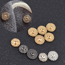 She Love 5pcs Black Gold Silver  Metal Snap Button 18mm 21mm Clasp Buttons Invisible Coat Buttons Fashion Suit  Buckle
