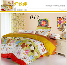 Twin Full Queen King Cotton 4pcs Bedding Set Bedclothes Sets Bed Linens Bed Sheet Quilt Cover Duvet Cover Pillowcase Good Friend