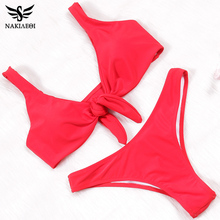 Buy NAKIAEOI 2019 New Sexy Micro Thong Bikini Women Swimsuit Swimwear Brazilian Bikini Set Beach Bathing Suit Swim Wear Biquini S~XL
