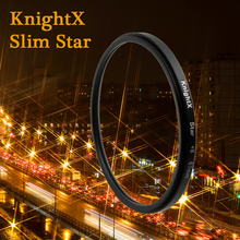 KnightX Star Filter 52MM 58MM 67MM 4 6 8 Point Line for Canon Nikon d3200 d5200 1200d 600d 100d t5i d5500750d t5 a57 lens DSLR(China)