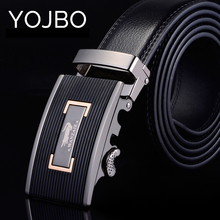 YOJBO Mens Designer Belts Luxury Men Leather 2017 Popular Fashion Genuine Leather Waist Metal Buckle