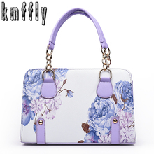 Women Classic chains tote bags print bag for lady's bolsas feminina famous designer brand shoulder bags women leather handbags(China)