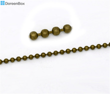 Doreen Box Lovely Bronze Tone Smooth Ball Chains Findings 2.4mm 10M (B10830)