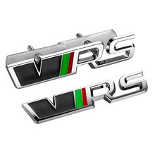 3D Metal VRS RS front grill emblem sticker Auto Badge for Skoda Fabia Octavia MK2 Rapid Spaceback Superb Yeti Roomster