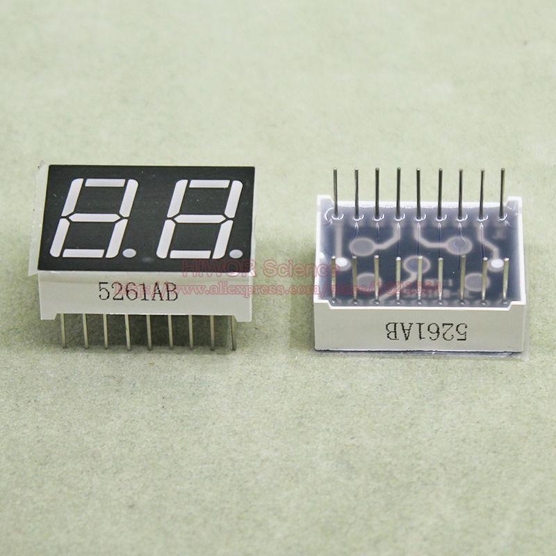 2PCS 0.56 inch 1 digit Blue Led display 7 segment Common cathode