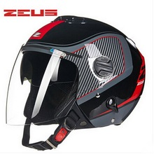 Taiwan ZEUS Half Face motorcycle helmet spring autumn ABS ZS202FB double-lens motorbike helmets electric bicycle Safety helmets(China)
