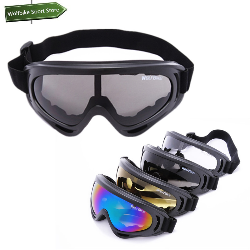 WOLFBIKE Black frame Mens Snow Ski goggles Glasses Outdoor Sport Motorcycle Cycling Sunglasses Eyewear Lens Yellow(China (Mainland))