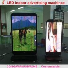 Customizable P2/P2.5/P3/P4/P5/P6 indoor led display advertising machine at market ,hotel