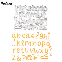 Metal English Letters Symbol Cutting Dies Stencils for DIY Scrapbooking Album Decorative Embossing Folder fustelle per big shot
