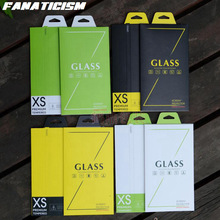 4 Color Paper Universal Retail Packaging Box For iphone X 8 7 6S Samsung S8 S7 PET Tempered Glass Screen Protector 100 pcs/lot