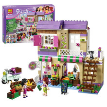 Girl Friend Series Heartlake Food Market Model Building Blocks Kit Mia Maya Assemble Bricks Bela 10495 Girls Favorite Toy