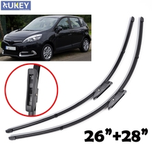 XUKEY Windshield Windscreen Wiper Blades Fit For Renault Scenic III 2009-2016 Front Window Wiper Blade 2010 2011 2012 2013 2014