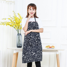 Polyester Chef Waiter Kitchen Apron Cook New Tool Kitchen Apron Black Bib Apron with Pocket Kitchen Accessories(China)