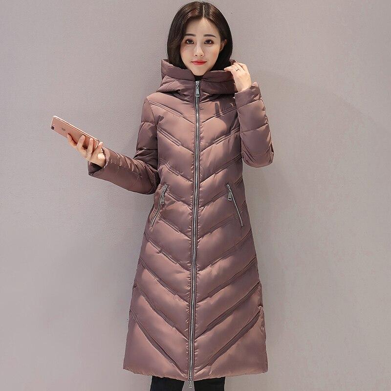 2017 long hooded women winter coat big size 3XL cotton padded casacos de inverno feminino warm thicken parka womens coatsÎäåæäà è àêñåññóàðû<br><br>