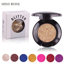 2017 New Long Lasting Pigments Eyes Glitter Powder Eyeshadow Cosmetics Minerals Eye Shadow Palette Waterproof Make Up(China)