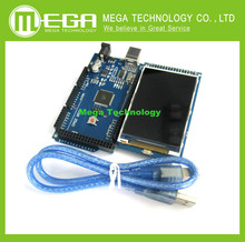 3.2 inch TFT LCD screen module Ultra HD 320X480 for Arduino + MEGA 2560 R3 Board, CH340G, with usb cable(China)