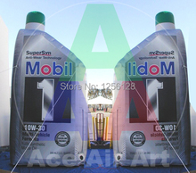 Customized Giant Inflatable Publicidad Oil Bottle For Advertising 4m H Outstanding