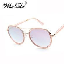 Who Cutie Superstar Pink Transparent Sunglasses Ray 2017 Hot Men Women Original Vintage Retro Lady Gaga Sun Glasses Shades OM296(China)