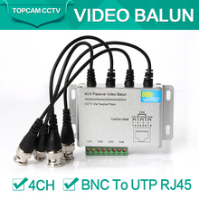 4Ch CCTV BNC Video Balun RJ45 Port Or Terminal Block Cable Transfer Video Converter Plug and Play Support 720p CVI Camera 400m