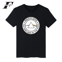 LUCKYFRIDAYF Pink Floyd tee shirts Short sleeve Summer Fashion tshirts cotton men British Rock Band Black funny t shirts for men