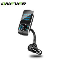 Onever FM Transmitter Bluetooth Car Wireless Handsfree Car Kit Car MP3 Player Modulator USB Charger Support Micro TF Card 32G