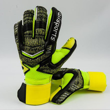 2017 New Men Professional Soccer Goalkeeper Gloves Latex Plam Football Goal Keeper Safety Protect Gloves Goalie Trainning Gloves