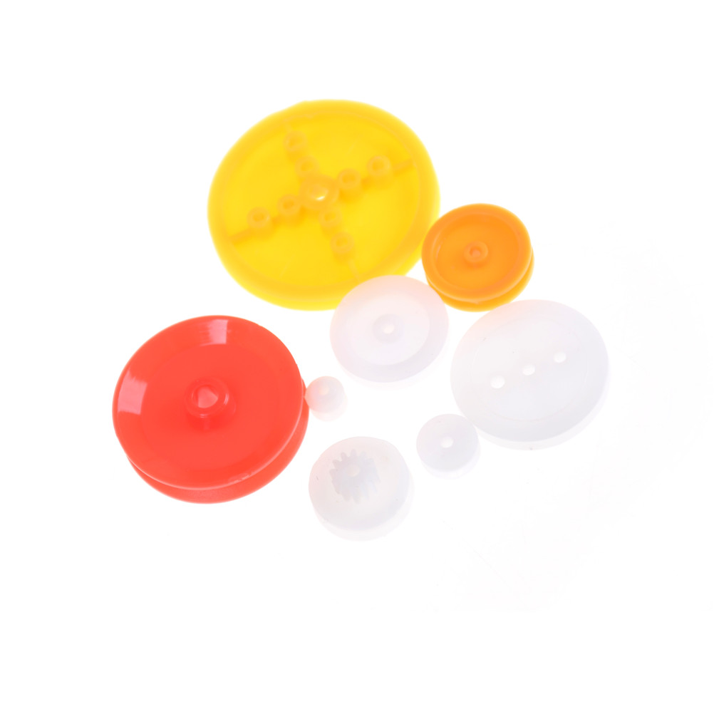 7pcs DIY Belt Pulley Pack Select 7 Models Plastic Gear Bag DIY Drive Accessories For Toy Car Accessories