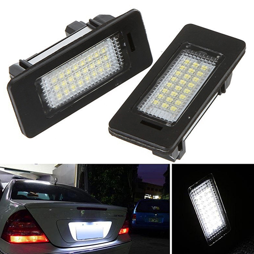 1 Pair Super Bright Car 24 LED License Plate Lights Lamp for BMW E39 E60 E61 E90<br><br>Aliexpress