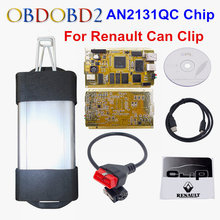 Latest V168 For Renault Can Clip Full Chip CYPRESS AN2131QC OBDII Auto Diagnostic Interface CAN Clip For Renault Code Scanner