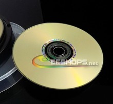New 4.7GB 16X DVD+R DL Lightscribe Gold Blank DVD Discs Recordable Printable Rewritable Writable DVDs Disc Lot 5pcs Drive Case