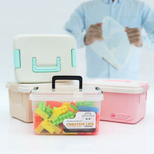 Candy Color Plastic Medication Storage Boxes Storage Box for Building Blocks Toys Home Organizer