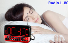 DAINIUER HD LCD screen Personalized Portable Multifunction LED Clock Radio L-80 Card MP3 Speaker Support en Gehe