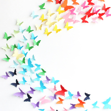 1Set Clock Wall Sticker Home Decoration Party 3D Butterflies Poster Adesivo De Parede Multicolor PVC TV Wall Kids Bedroom Girl