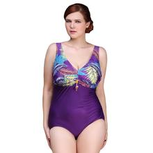 Buy New Sexy One Piece Swimsuit 2016 Vintage Plus Size Swimwear Women Noble Decorations Beach Bodysuit Look Slim Halter Bathing Suit