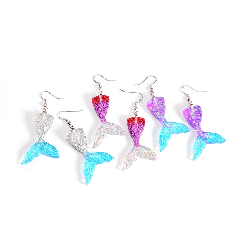 Cute Mermaid Princess Fashion Earrings